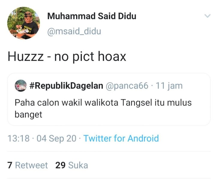 Dugaan Pelecehan Said Didu ke Rahayu Saraswati, Ferdinand Hutahaen: Lelaki  Tua Memalukan   Radamuhu.com